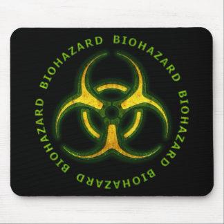 Advertencia del zombi del Biohazard Alfombrilla De Ratones