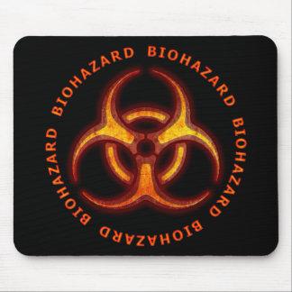Advertencia del zombi del Biohazard Tapete De Ratones