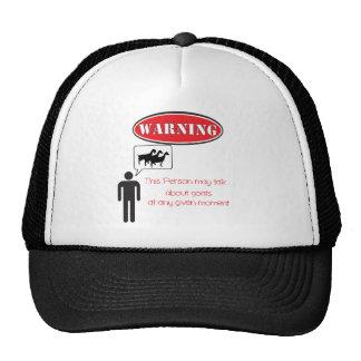 Advertencia divertida de la cabra gorras de camionero