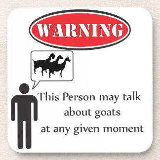Advertencia divertida de la cabra posavasos de bebidas