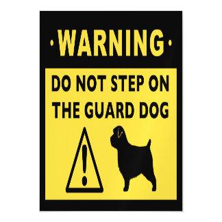 Advertencia divertida del perro guardián de invitaciones magnéticas