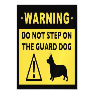 Advertencia divertida del perro guardián del Corgi Invitaciones Magnéticas