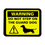 Advertencia divertida del perro guardián del Dachs Imanes Flexibles