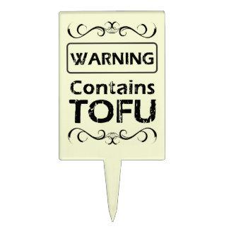 Advertencia divertida del QUESO DE SOJA Decoraciones Para Tartas