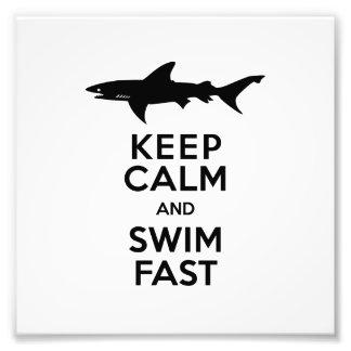 Advertencia divertida del tiburón - guarde la impresiones fotograficas