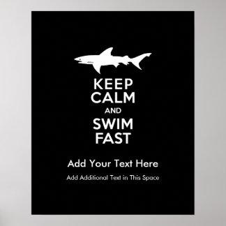 Advertencia divertida del tiburón - guarde la impresiones