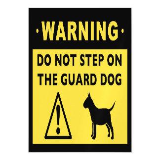 Advertencia divertida miniatura del perro guardián invitaciones magnéticas