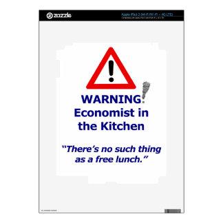 Advertencia: ¡Economista en la cocina! iPad 3 Skin