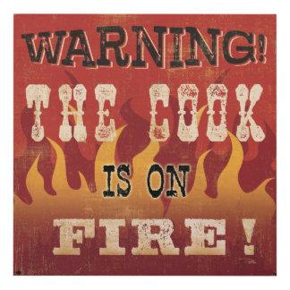 ¡Advertencia! El cocinero se arde