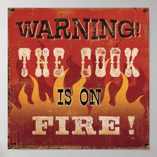 ¡Advertencia! El cocinero se arde Póster