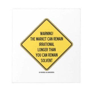 ¡Advertencia! El mercado puede seguir siendo más Blocs De Notas