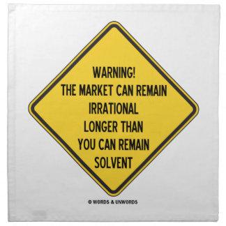 ¡Advertencia! El mercado puede seguir siendo más Servilleta