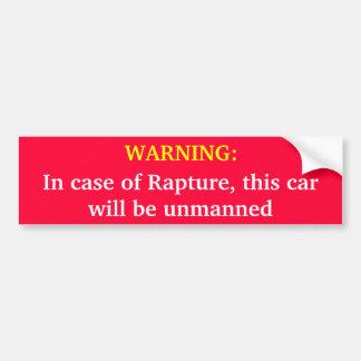 ADVERTENCIA: En caso de éxtasis, este coche será u Pegatina Para Auto
