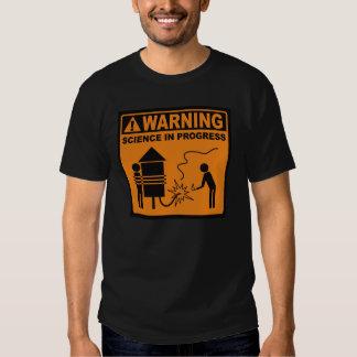 ¡Advertencia!  © en curso de la ciencia (Rocket) Playeras
