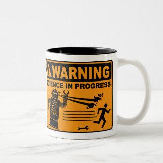 ¡Advertencia! © en curso de la ciencia - taza del