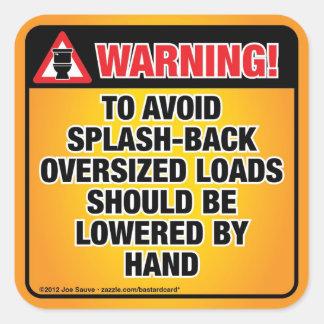 ADVERTENCIA - evite el cuarto de baño del Colcomanias Cuadradas Personalizadas