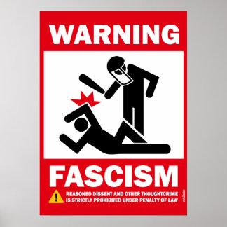 Advertencia: Fascismo Posters