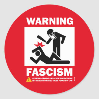 Advertencia Fascismo Pegatinas