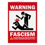 Advertencia: Fascismo Tarjeta De Felicitación