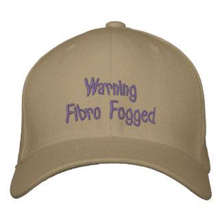 Advertencia - fibro empañada - casquillo bordado gorra de beisbol