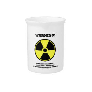 ¡Advertencia! Fusión diaria de la causa de la Jarra