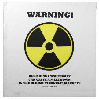 ¡Advertencia! Fusión diaria de la causa de la Servilletas De Papel