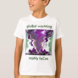 advertencia global del calentamiento del planeta playera