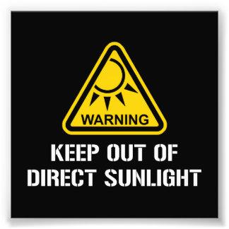 ADVERTENCIA - guarde fuera de luz del sol directa Impresiones Fotograficas