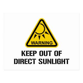 ADVERTENCIA - guarde fuera de luz del sol directa Postales