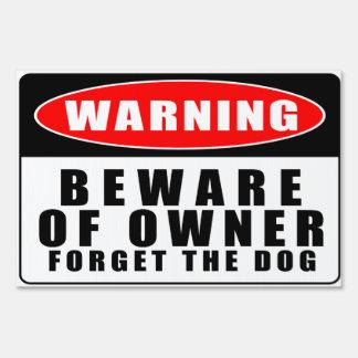 Advertencia - guárdese del dueño la muestra de la