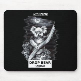 Advertencia: Hábitat del oso del descenso Alfombrillas De Ratones