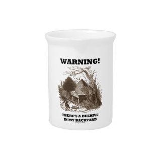¡Advertencia Hay una colmena en mi patio trasero Jarrón