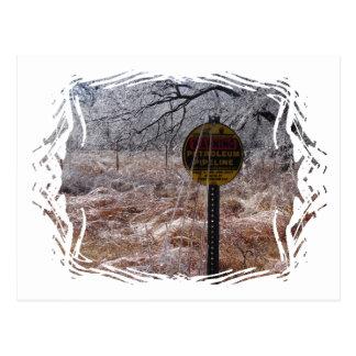 Advertencia helada de la tubería del petróleo tarjetas postales