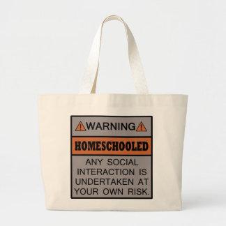¡Advertencia ¡Homeschooled Bolsa De Mano