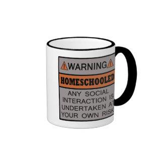 ¡Advertencia! ¡Homeschooled! Taza A Dos Colores