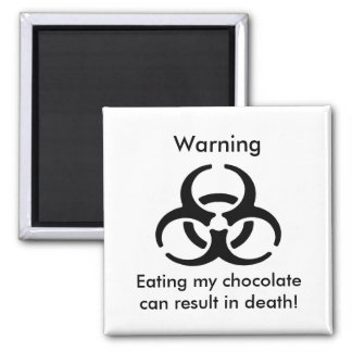 Advertencia Imán Cuadrado