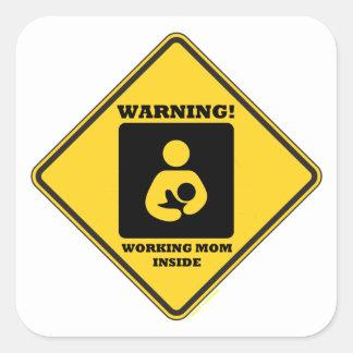 ¡Advertencia! Interior de la mamá de Calcomanías Cuadradases