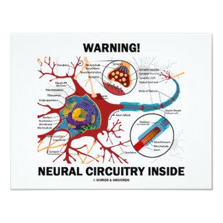 """¡Advertencia! Interior de los nervios del conjunto Invitación 4.25"""" X 5.5"""""""