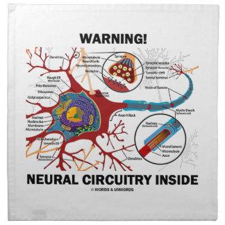 ¡Advertencia! Interior de los nervios del conjunto Servilletas