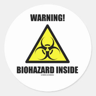 ¡Advertencia! Interior del Biohazard (humor de la Etiqueta Redonda