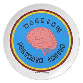 ¡Advertencia! Interior del gran pensador (anatomía Plato Para Fiesta