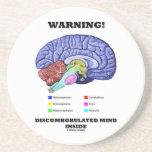 ¡Advertencia! Interior Discombobulated de la mente Posavasos Personalizados