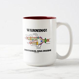 ¡Advertencia! Interior emocional de la DNA (réplic Tazas De Café