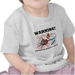 ¡Advertencia! Interior Frazzled de los nervios (ne Camisetas