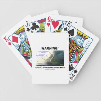 ¡Advertencia! Interior generado sonido del vórtice Baraja Cartas De Poker