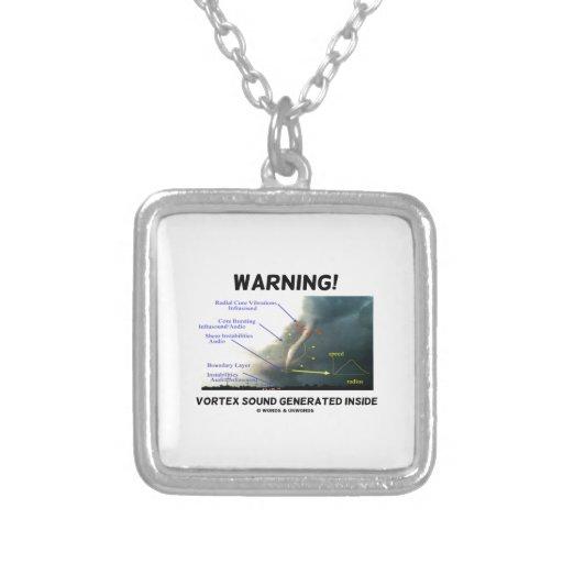 ¡Advertencia! Interior generado sonido del vórtice Colgante Cuadrado