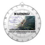 ¡Advertencia! Interior generado sonido del vórtice Tablero Dardos