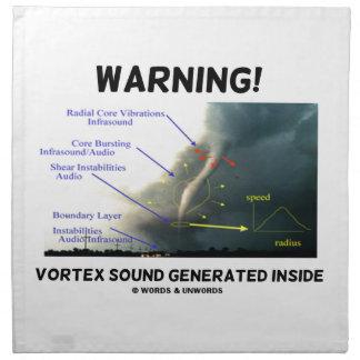 ¡Advertencia! Interior generado sonido del vórtice Servilletas De Papel