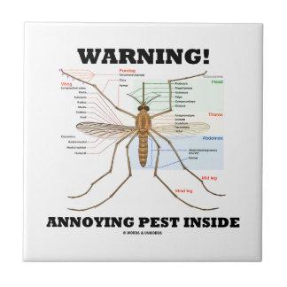 ¡Advertencia! Interior molesto del parásito (anato Azulejo Cuadrado Pequeño