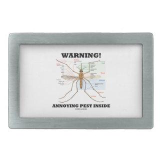 ¡Advertencia! Interior molesto del parásito (anato Hebilla Cinturon Rectangular